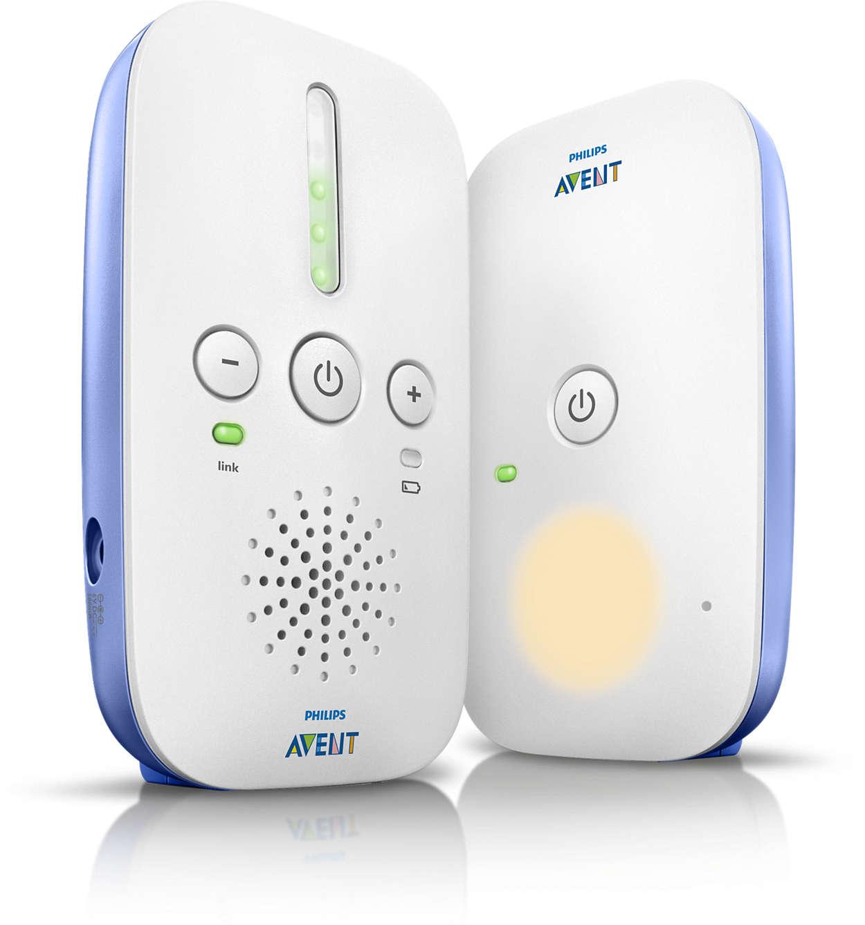 Elektroniczna niania DECT - funkcja eco, lampka nocna, zasięg do 330m Philips Avent SCD501/00