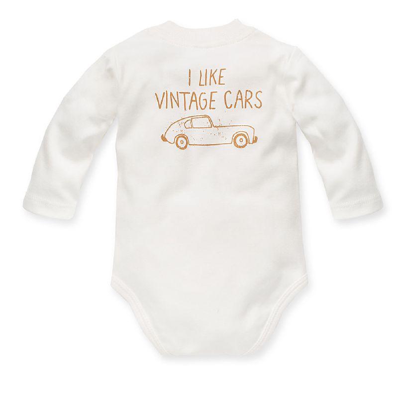Pinokio body rozpinane dla niemowląt z długim rękawem Old Cars 62
