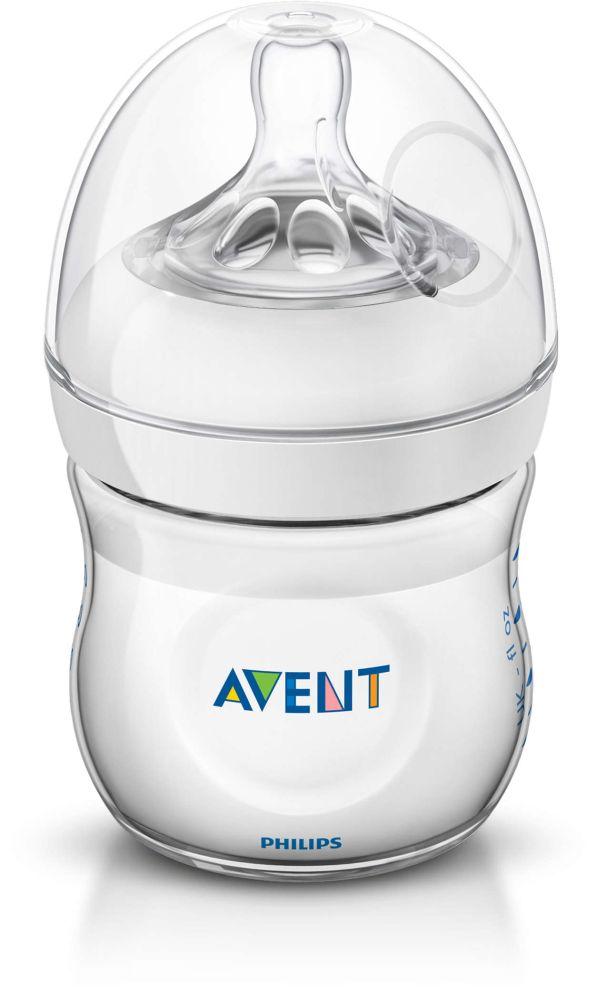 Innowacyjna butelka z systemem antykolkowym Avent Natural 125ml 0m+ SCF690/17