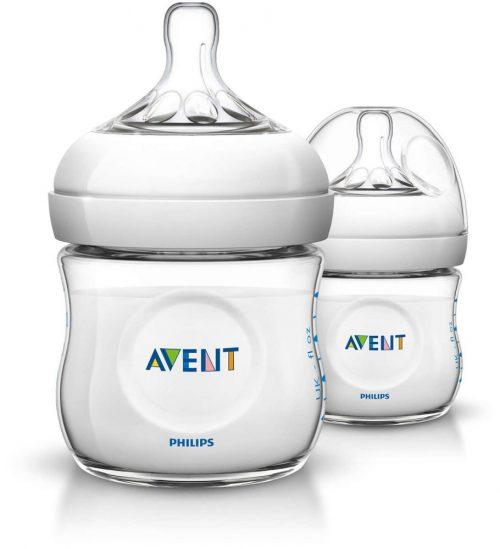 Innowacyjne butelki z systemem antykolkowym Avent Natural 125ml 0m+ 2 szt. SCF690/27