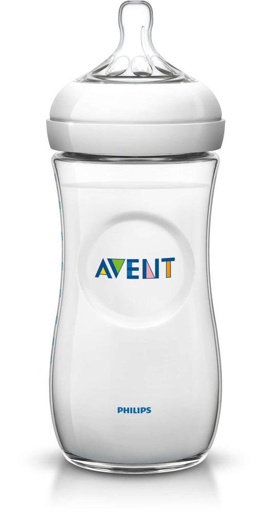 Butelka Avent 330 ml z serii Natural SCF696/17 ze smoczkiem o średnim przepływie 3m+ SCF696/17