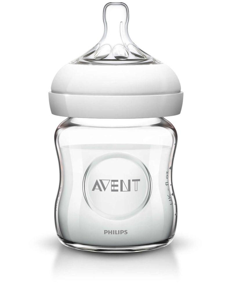 Butelka szklana z systemem antykolkowym Avent Natural 120ml SCF671/17