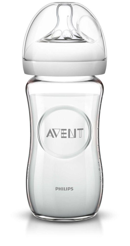 Butelka szklana z systemem antykolkowym Avent Natural 240ml SCF673/17