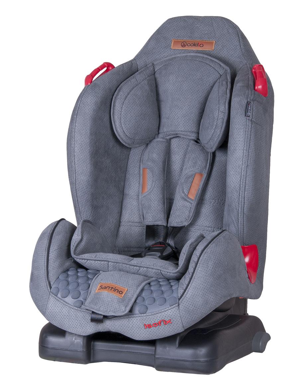 Wygodny fotelik samochodowy 9-25 kg Santino Isofix Coletto z regulowanym oparciem