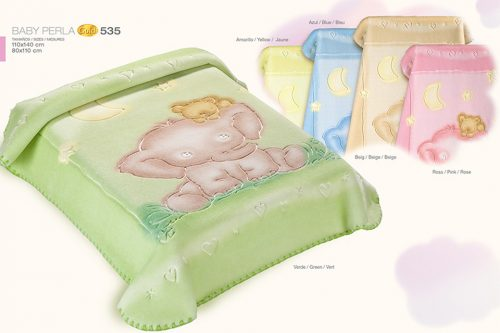 Kocyk krylowy Gold 140x1110 Baby Perla 535 Zielony