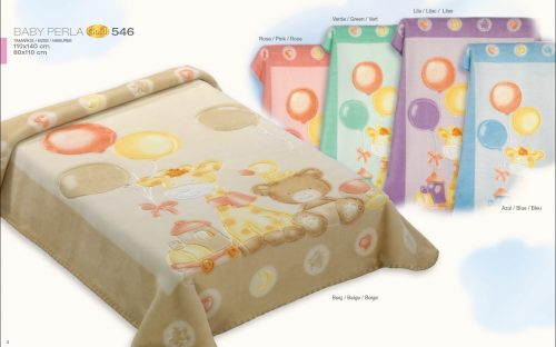 Kocyk 546 z Baby Perla Gold 110x140 Zielony