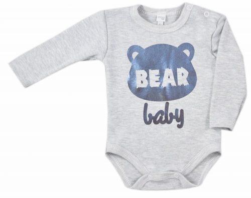 Bawełniane body długi rękaw Świecidełko Koala Baby 86 szary