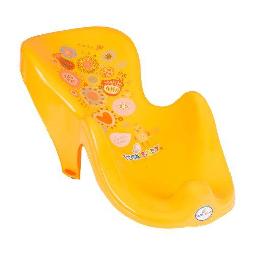 Fotelik do kąpieli leżaczek dla niemowląt Folk Tega Baby Pomarańczowy