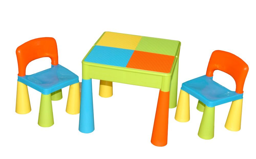 "Zestaw ""Mamut"" stolik + 2 krzesełka + blat LEGO Tega Baby Multicolor"