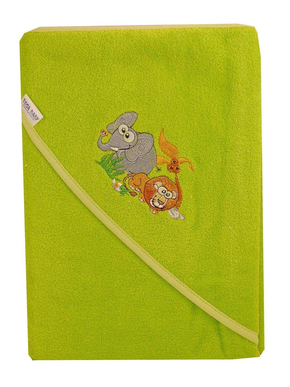 Bawełniane okrycie kąpielowe 80x80 cm Tega Baby z kolekcji Safari Zielony