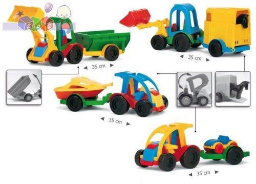 Małe autka z przyczepami różne modele Wader 35200
