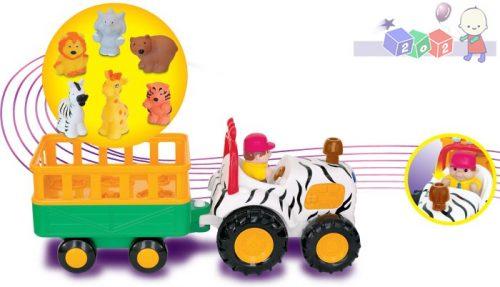 Traktor Safari Dumel Discovery z sześcioma zwierzątkami - światła dźwięki 12m+ DD29652
