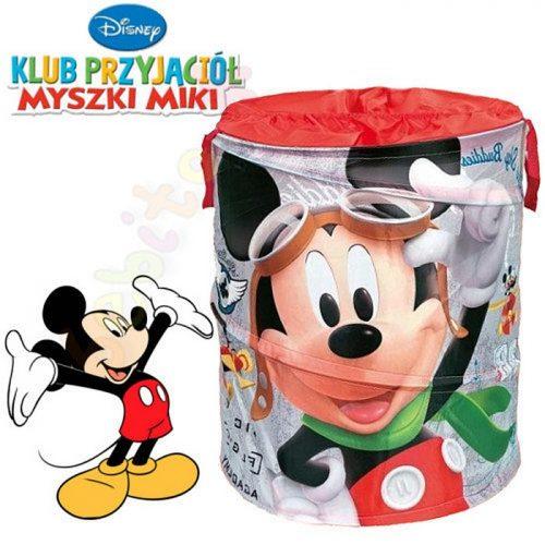 Disney składany kosz na zabawki Pop Up okrągły Mickey Mouse 35x35x51
