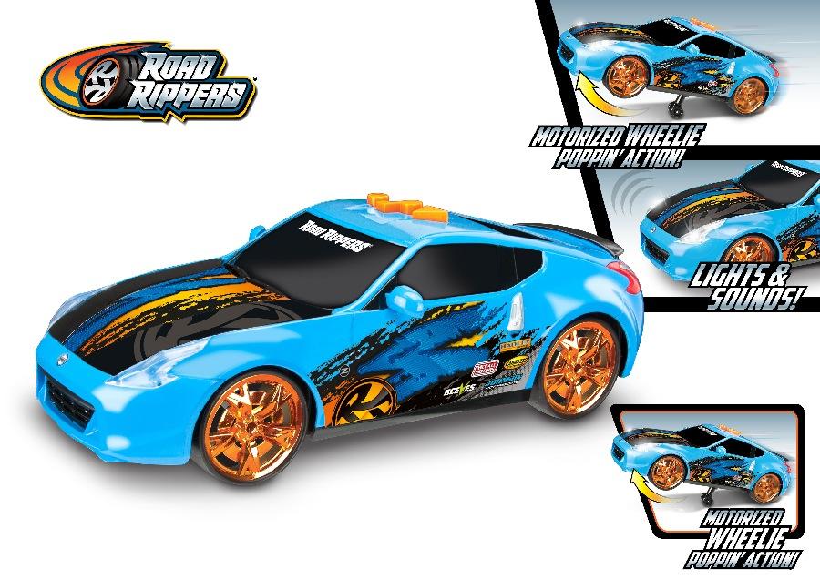 Road Rippers Auto Wheelie Power Chevy Corvette C7 pomarańczowy z napędem