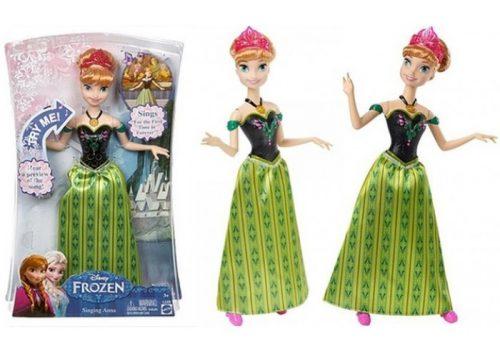 Disney Frozen śpiwająca lalka Anna Disney CJJ08
