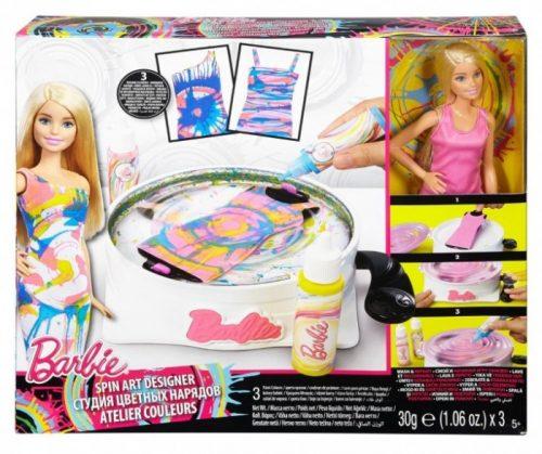 Barbie Zakręcone wzory zabawa lalka z ubrankami DMC10