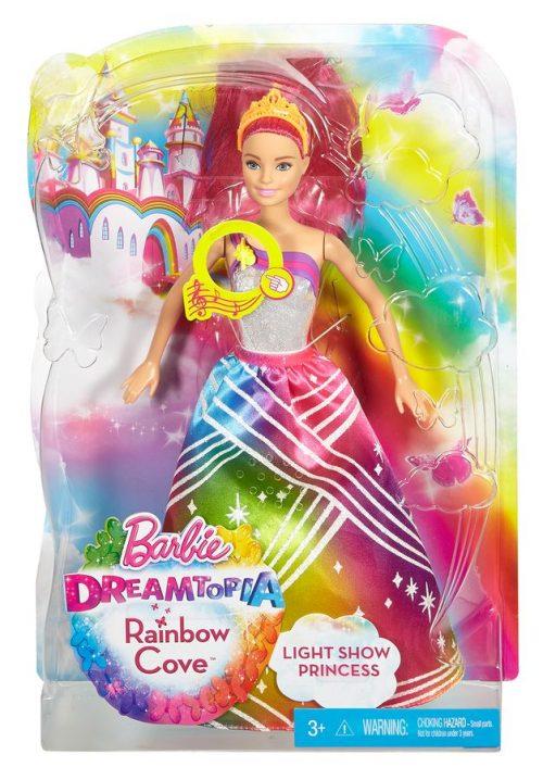 Barbie Tęczowa księżniczka z dźwiękiem DPP90