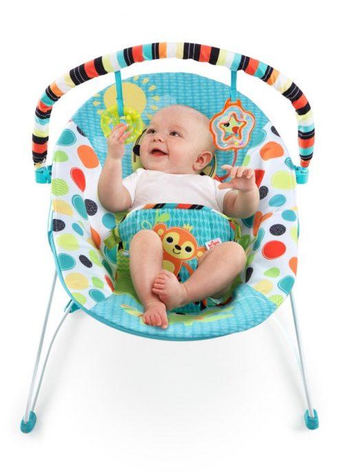 Leżaczek dla dzieci Bright Starts Fikające Małpki od 3-9 kg