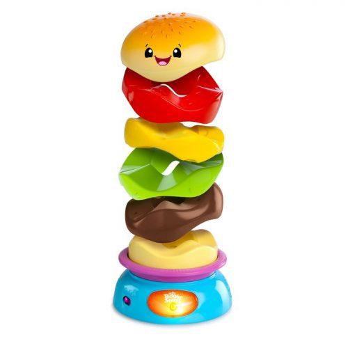 Bright Starts Zakręcony Burger zabawka dla dzieci piramidka BS52126