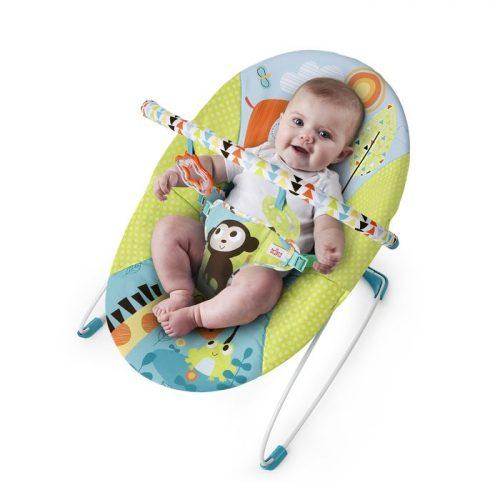 Bright Starts Leżaczek dla niemowląt kolorowe wzorki BS60725