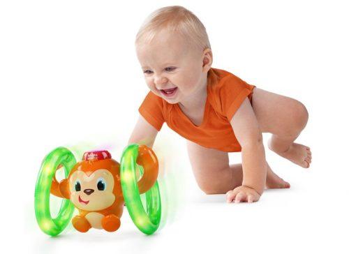 Fikająca małpka, Bright Stars do raczkowania grająca zabawka BS52181