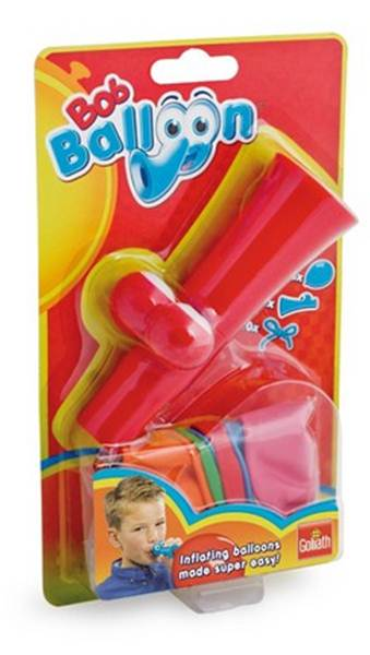 Goliath Games - Bob Ballon - Pocket -z łatwością nadmuchasz balony_Czerwony
