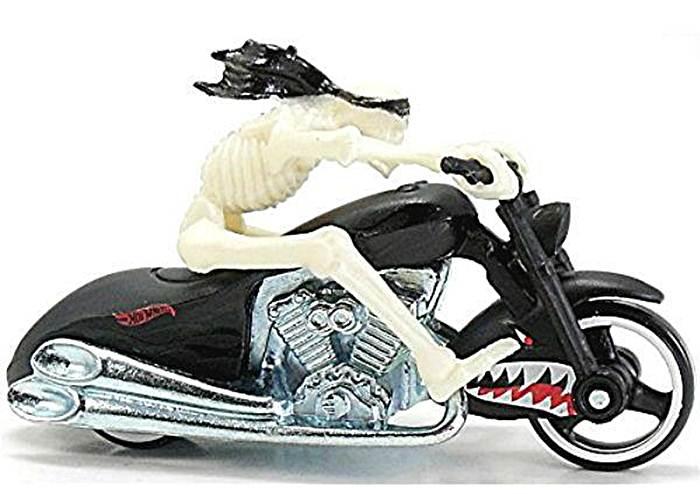 Motocykl wyścigowy z motocyklistą, Hot Wheels Scorchin X2075