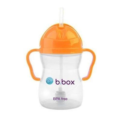 240ml Bidon ze słomką  kubek niekapek Neon B.box Pomarańczowy