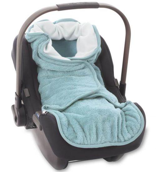 Śpiworek do fotelika samochodowego  Wrap mały do fotelika również do wózka i kocyk 3w1 Mint
