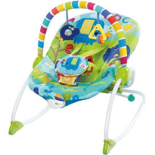 Leżaczek dla niemowląt  BS10316 Bright Stars Safari 3-18 kg