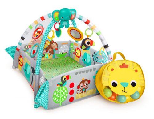 Mata edukacyjna plac zabaw Deluxe Fikające Małpki z  piłeczki Bright Starts