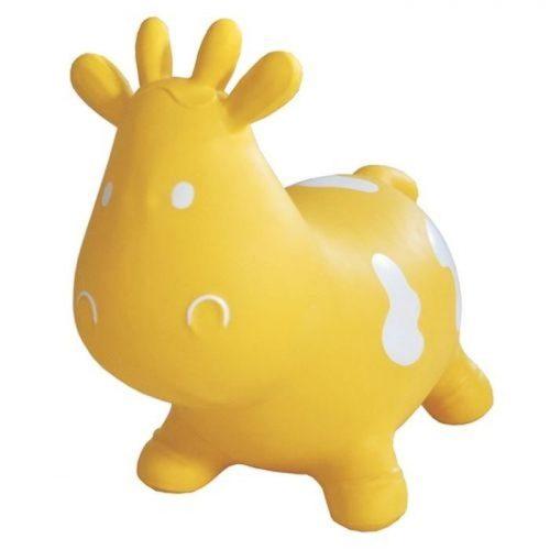 Dmuchany skoczek dla dzieci krówka Tootiny z pompką w komplecie Żółty