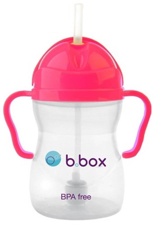 Innowacyjny kubek niekapek B.Box bidon ze słomką Różowy 240ml