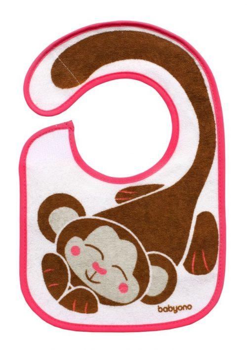 BabyOno śliniak frotte i eat and i grow 3m+ Małpa