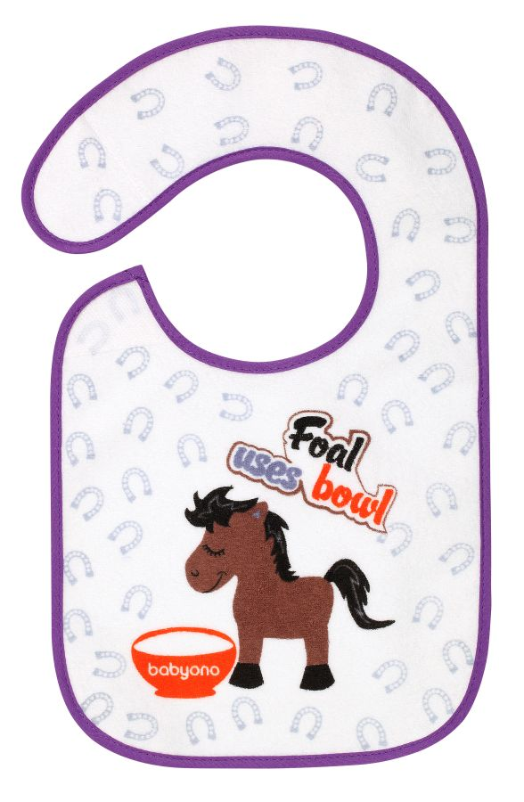 BabyOno śliniak frotte flavor explorer 6m+ Koń