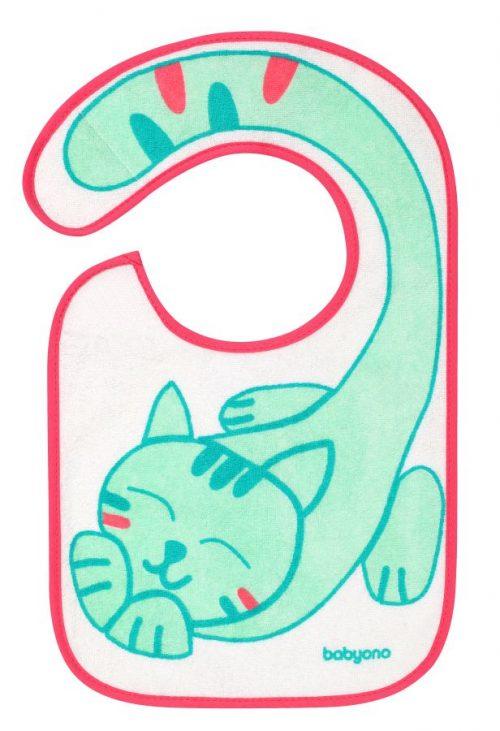 BabyOno śliniak frotte flavor explorer 6m+ Kot