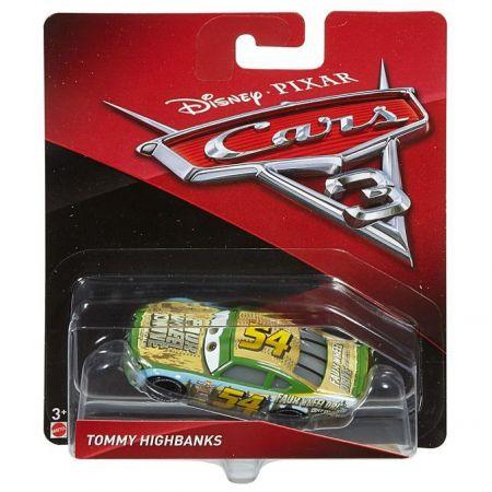 Metalowe samochodziki z bajki Auta Cars 3 DXV61 TOMMY_HIGHBANK