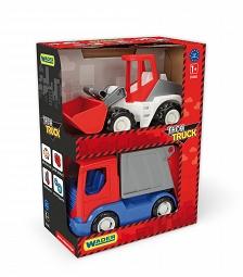Pojazdy Tech Truck koparka i śmieciarka Wader 35370