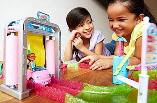 Barbie myjnia samochodowa Barbie On The Go FHV91 samochód lalka