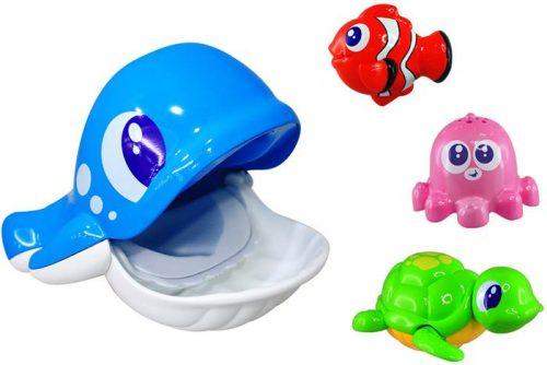 Wieloryb i ferajna 43270, Dumel 4 zabawki do kąpieli DD43270