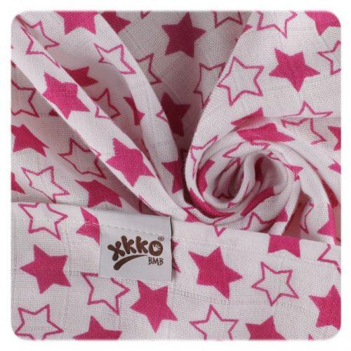 Pieluszki bambusowe XKKO 70x70 cm - 3szt Little Stars Różowe