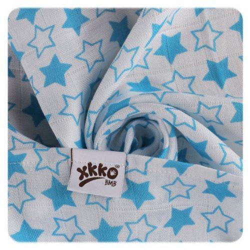 Pieluszki bambusowe XKKO 70x70 cm - 3szt Little Stars Niebieskie