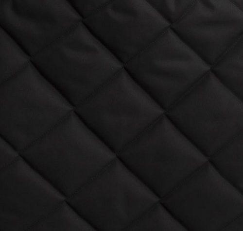 Uniwersalny śpiworek do wózka z futerkiem Belisima Czarny pikowany