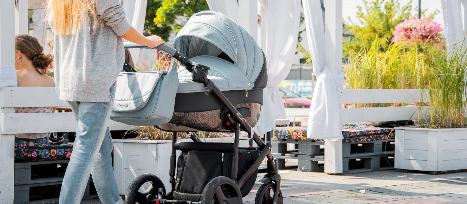 Wózek głęboko spacerowy wielofunkcyjny Florino NEW czarna rama firmy Coletto