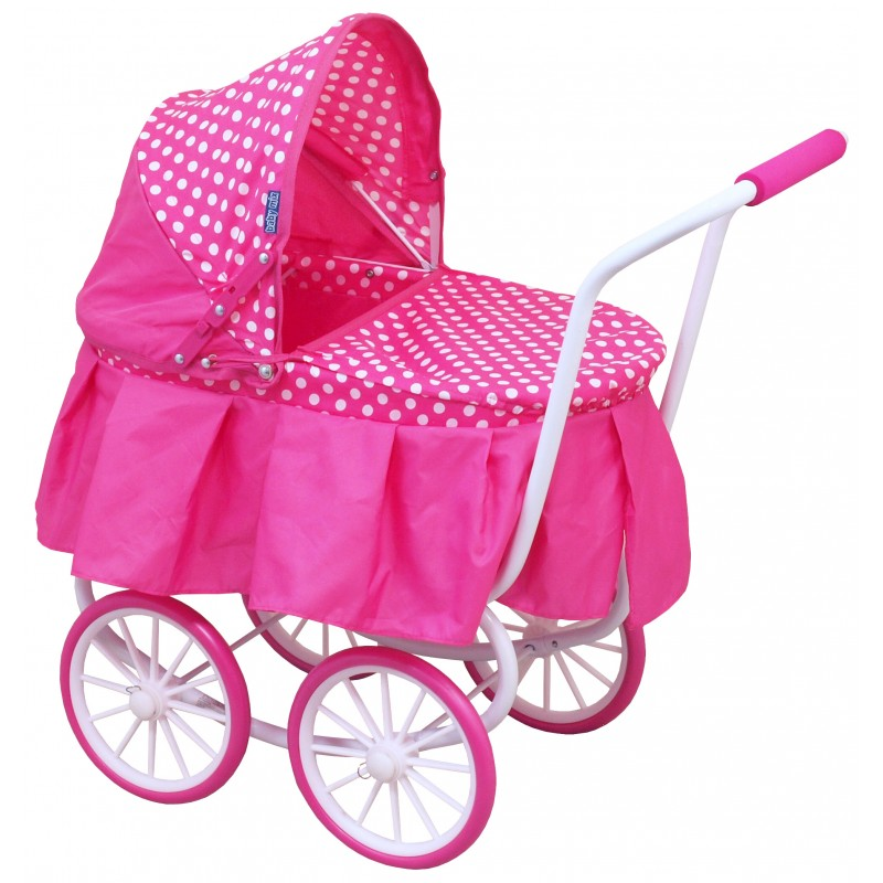 Wózek lalkowy dla dzieci  wózek retro głęboki