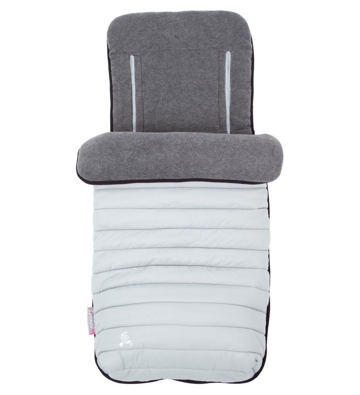 Śpiworek do wózka - wkładka do wózka 2w1 Comfi-Snug Jasny szary