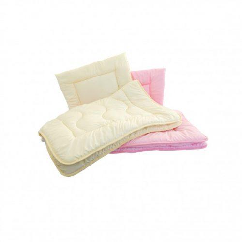 Poldaun kołderka z poduszką wypełnienie Hospitality całoroczne 120x90 cm Różowy