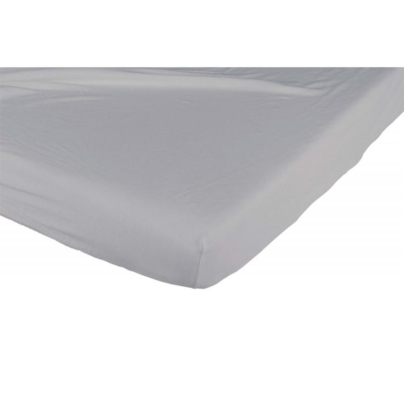 Prześcieradło do łóżeczka bawełniane 120x60 ciemnoszare Candide