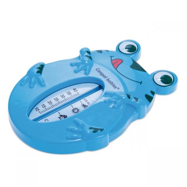 Bezrtęciowy termometr do kąpieli dla dzieci i noworodków Canpol Babies Żabka Niebieska