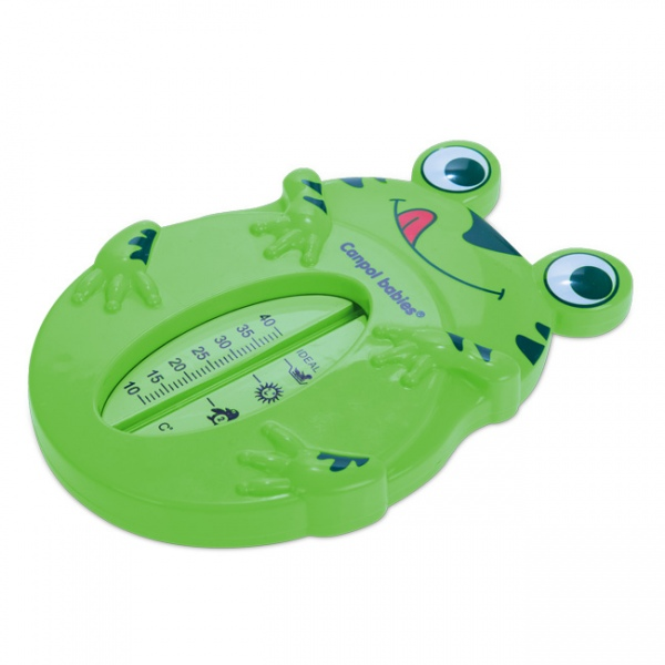 Bezrtęciowy termometr do kąpieli dla dzieci i noworodków Canpol Babies Żabka Zielona